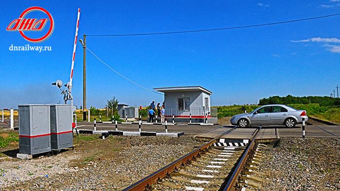 Железнодорожный переезд ГП Донецкая железная дорога Донецкая народная республика