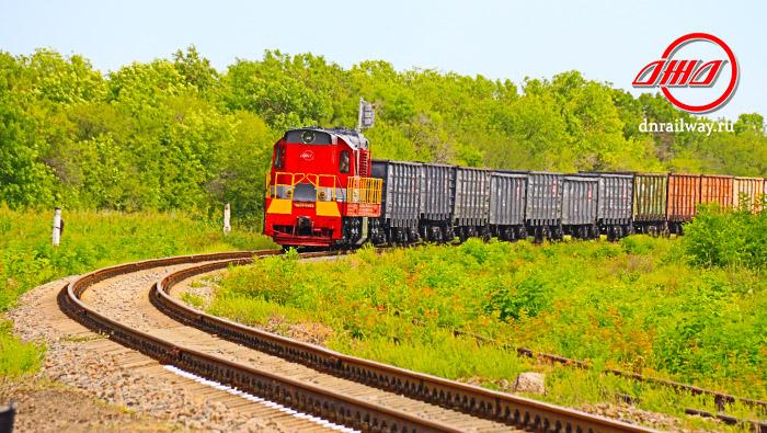 Поезд грузовые вагоны ГП Донецкая железная дорога Донецкая народная республика