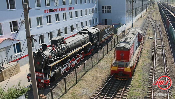 Локомотивное депо поезд ГП Донецкая железная дорога Донецкая Народная республика