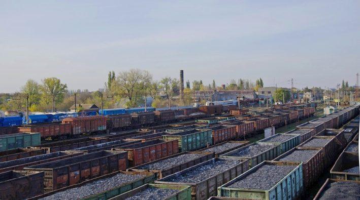 Грузовые вагоны уголь Служба грузовых перевозок ГП Донецкая железная дорога Донецкая Народная республика
