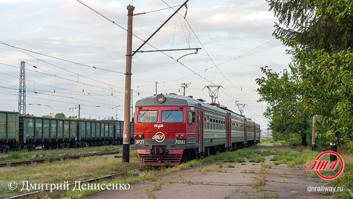Электричка ЭР2Т 7090 Станция Щебенка ГП Донецкая железная дорога Донецкая народная республика