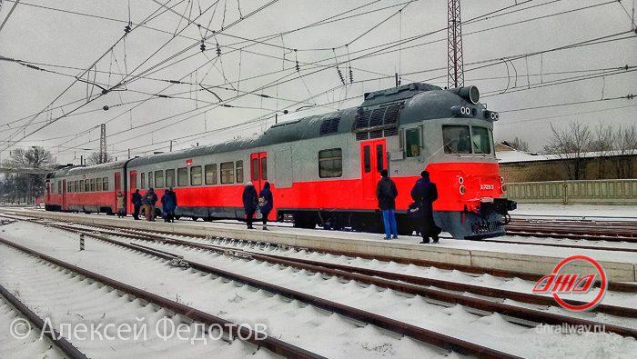 Электричка зима ГП Донецкая железная дорога Донецкая Народная республика