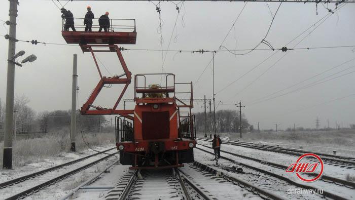 Энергетики зима ГП Донецкая железная дорога Донецкая Народная республика