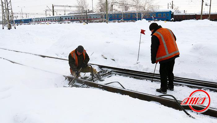 Путь снегоборьба служба пассажирских перевозок ГП Донецкая железная дорога Донецкая Народная республика снег зима