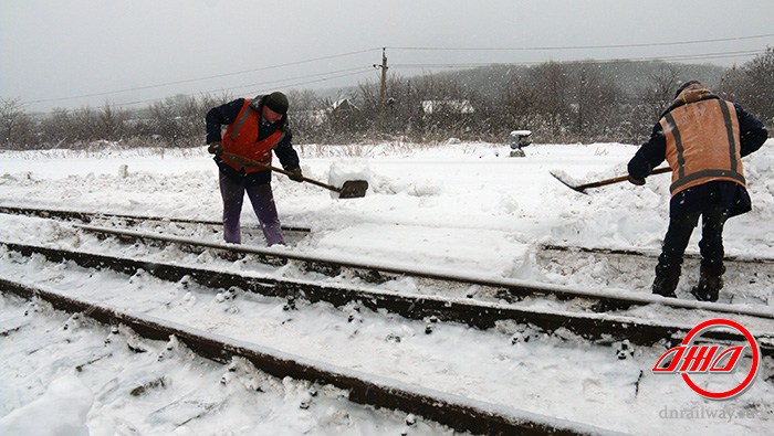 Путь снегоборьба ГП Донецкая железная дорога Донецкая Народная республика снег зима