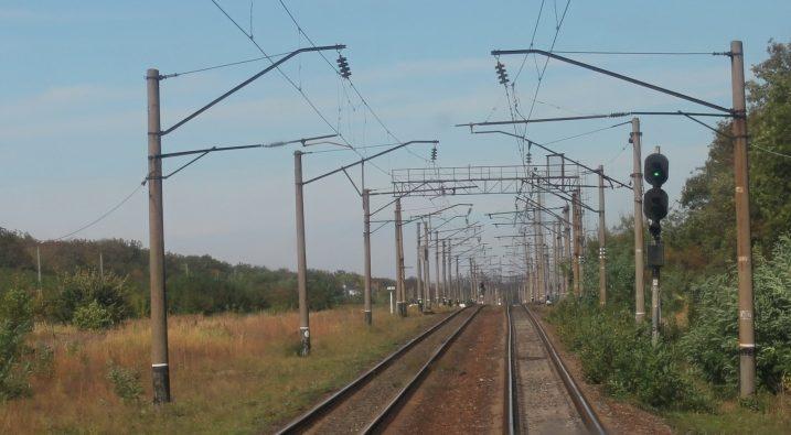 Погода дорога ГП Донецкая железная дорога пути природа небо