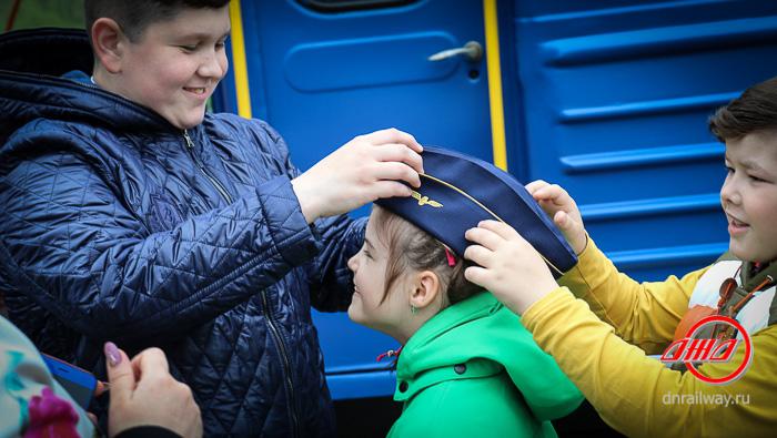Пассажиры Детской железной дороги ГП Донецкая железная дорога пилотка синяя