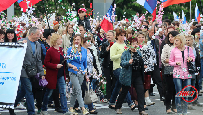 Митинг Государственное предприятие Донецкая железная дорога Донецкая народная республика