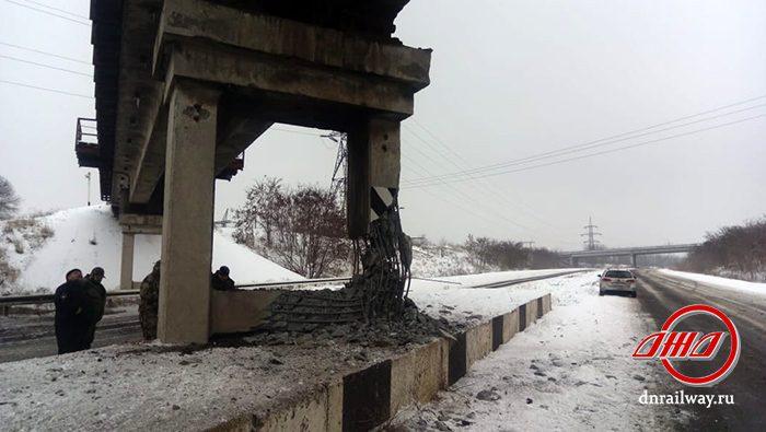 Восстановление мост Чумаково-Ларино Государственное предприятие Донецкая железная дорога Донецкая народная республика