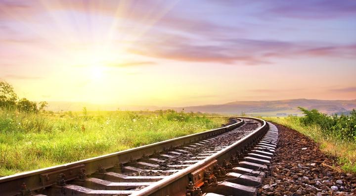 Путь жара ГП Донецкая железная дорога природа небо солнце