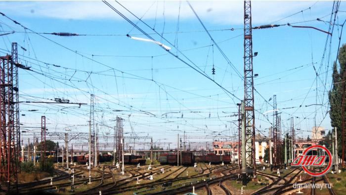 Донецкая ЖД железнодорожные пути красивый вид