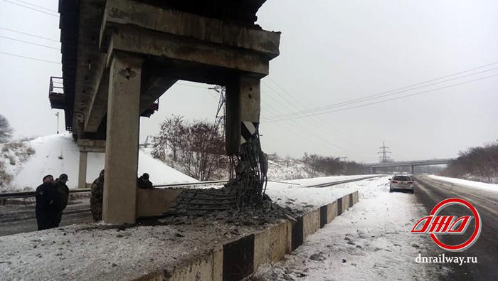 Мост взрыв диверсия Государственное предприятие Донецкая железная дорога Донецкая Народная республика