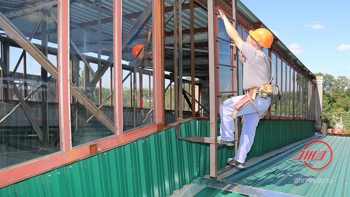 крыша сайт (6) ГП Донецкая железная дорога Донецкая Народная республика кровля строители