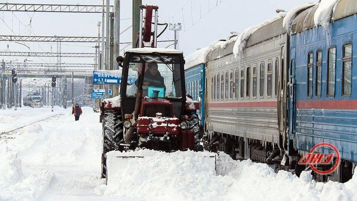 Зима снег Государственное предприятие Донецкая железная дорога Донецкая народная республика