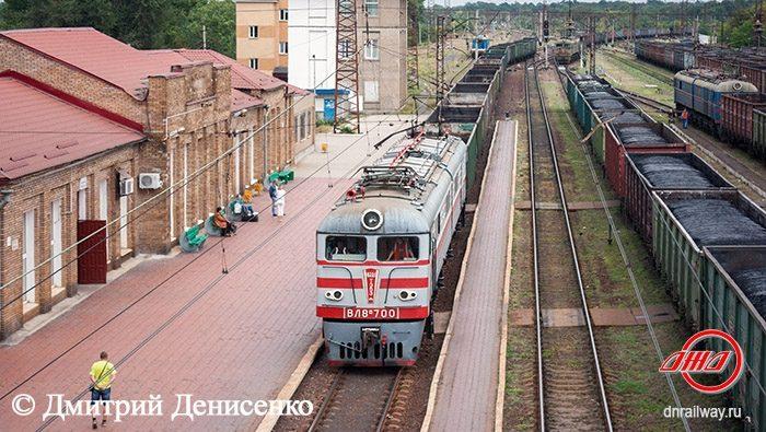 Поезд ВЛ8М 700 Криничная Государственное предприятие Донецкая железная дорога Донецкая народная республика