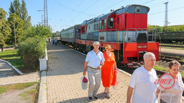 Пассажирский поезд Государственное предприятие Донецкая железная дорога Донецкая народная республика