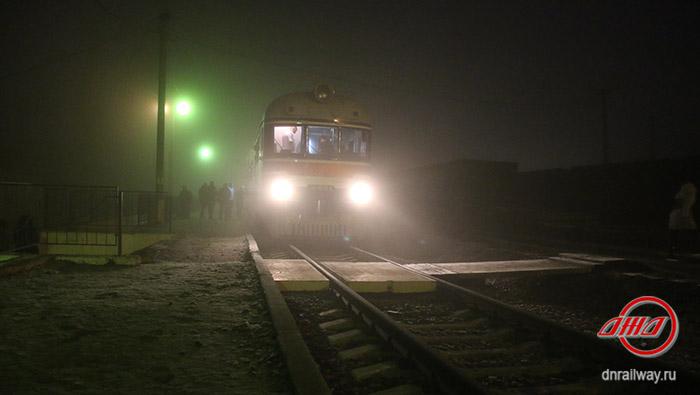 Осмотр железнодорожного пути сбор мотриса Государственное предприятие Донецкая железная дорога Донецкая Народная республика