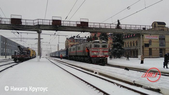 Поезд зима снег Пассажирская служба Государственное предприятие Донецкая железная дорога Донецкая Народная республика