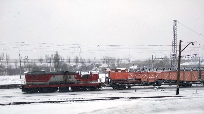 Снегоборьба снег техника вагоны Государственное предприятие Донецкая железная дорога Донецкая Народная республика