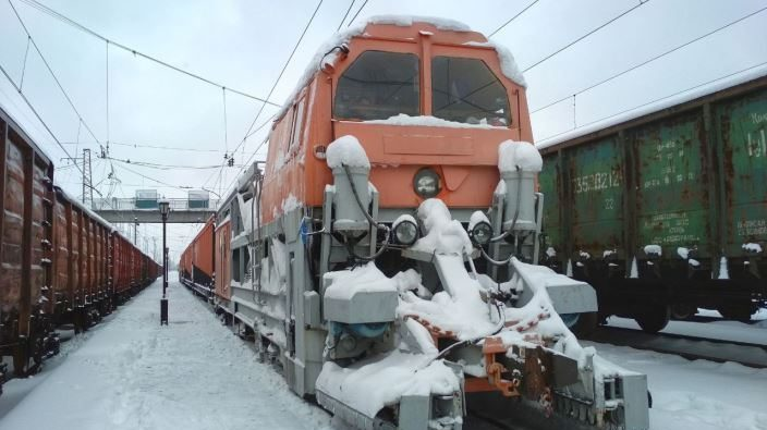 Снегомашина снегоборьба зима снег Государственное предприятие Донецкая железная дорога Донецкая Народная республика