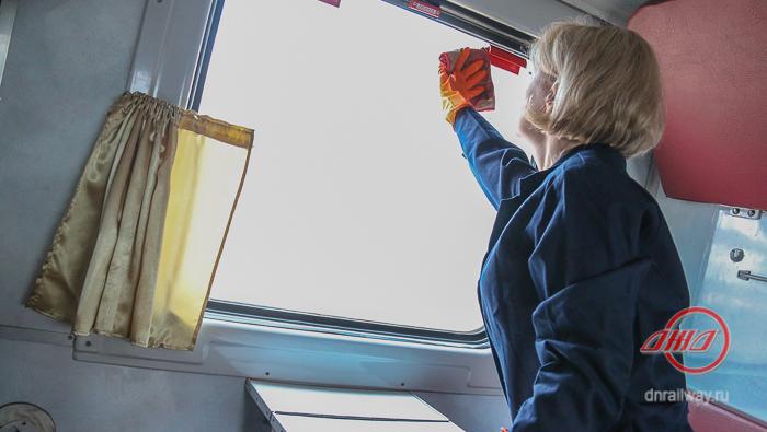 Санитарная обработка вагон Пассажирская служба Государственное предприятие Донецкая железная дорога Донецкая народная республика