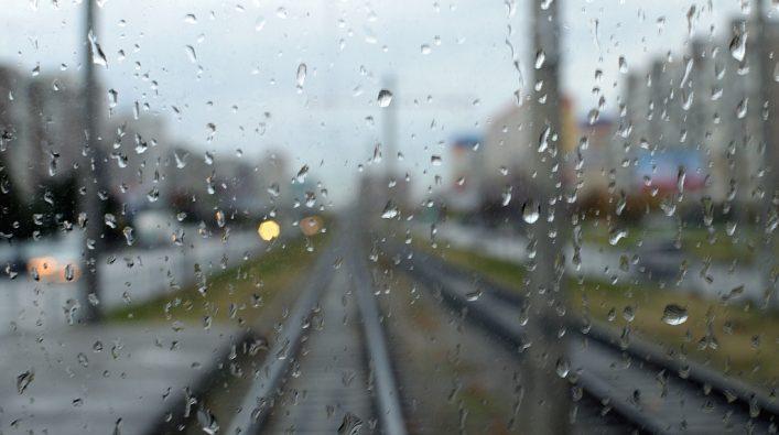 Погода дождь капли стекло железнодорожный путь Донецкая железная дорога Донецкая народная республика Трансграничный концерн Железные дороги Донбасса